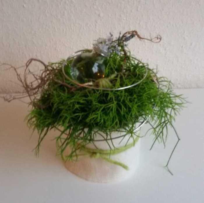 Blumige Topfpflanze
