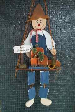 Herbstlicher Hampelmann für den Garten - mit Vorlage