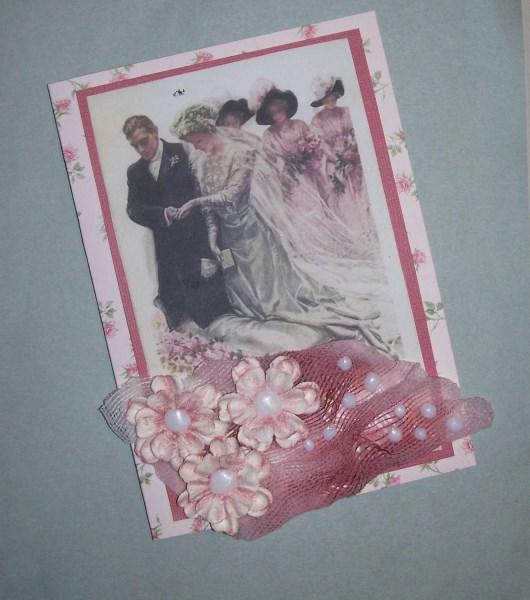 Romantische Hochzeitskarte