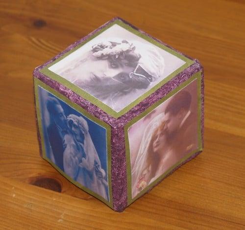 Dekowürfel aus Milchkartons