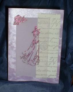 Hochzeitskarte mit festlichem Kleid
