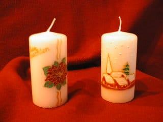Gestempelte Kerzen