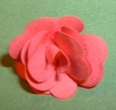 Moosröschen aus Tonpapier basteln