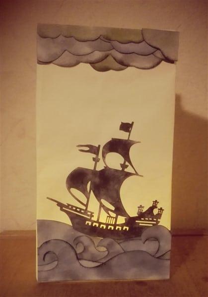 Lichtertüte Piratenschiff