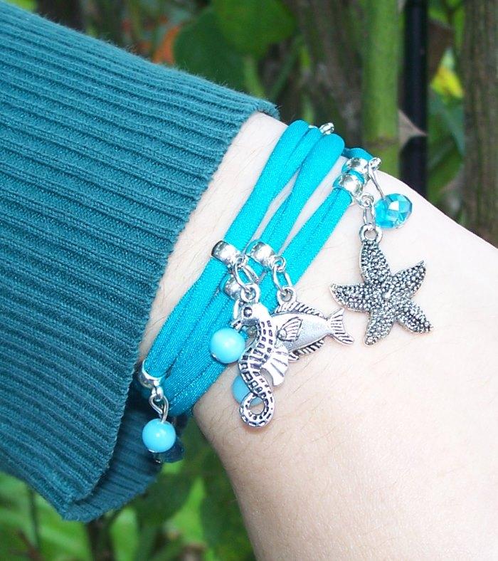 Armbänder aus Lycra-Bändern - ohne Verschluss