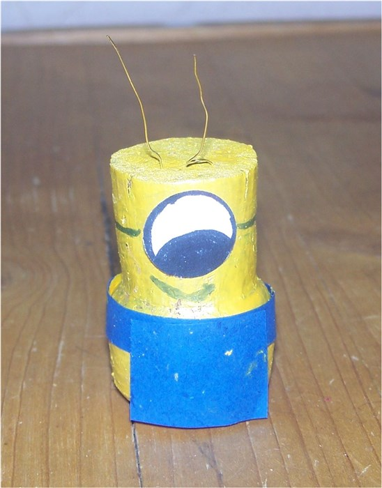 Minion aus Korken basteln