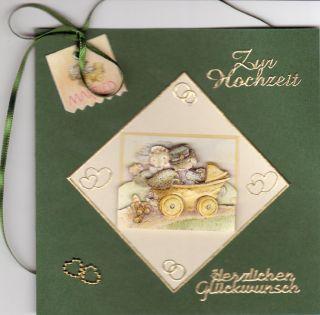 Hochzeitskarten basteln