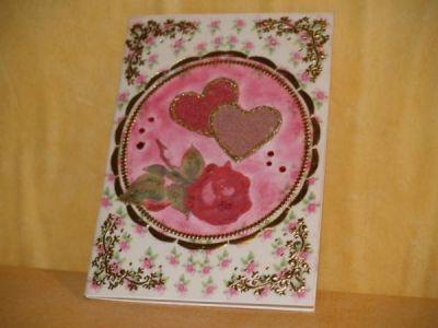 Vintagekarte mit Rose