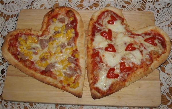 Pizza-Herzen