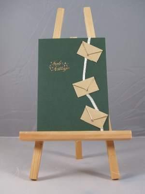 Weihnachtskarte mit Miniumschlägen
