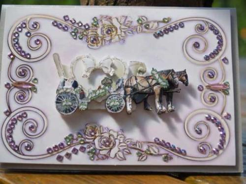 Hochzeitskarten mit Hochzeitskutschen