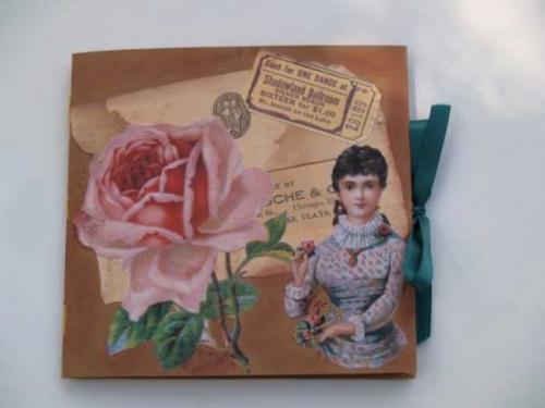 Mini-Scrapbook aus Tonkarton und Tonpapier