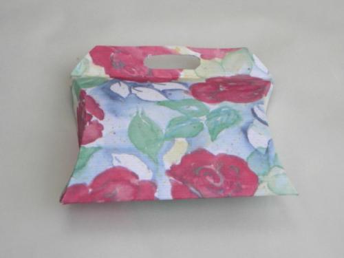 Kissenverpackung mit Griff - mit Bastelvorlage