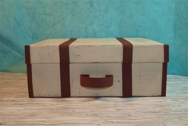 Vintage Koffer aus Schuhkarton