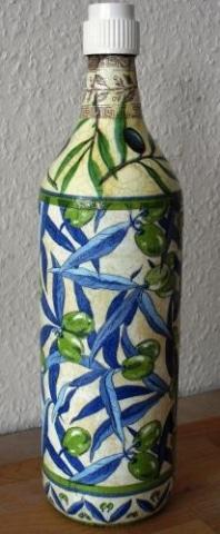 """Ölflasche """"Grüne Oliven"""""""