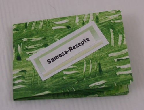 Minibüchlein aus einem Blatt Papier