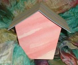Vogelhäuschen oder Sparhaus  mit Bastelvorlage