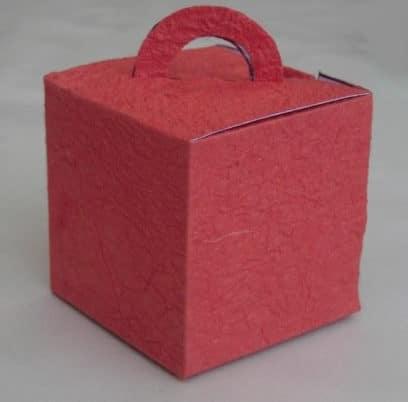 Schachtel mit Griff  mit Bastelvorlage