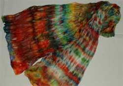 Schal - Seidenmalerei mit der Mikrowelle