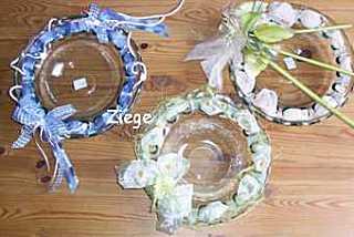 Dekorierte Glasschalen