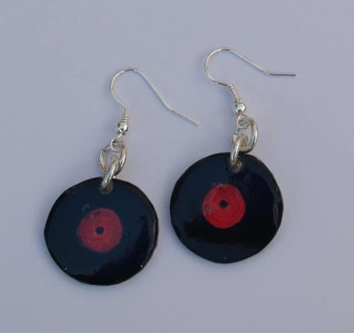 Schallplatten-Ohrringe