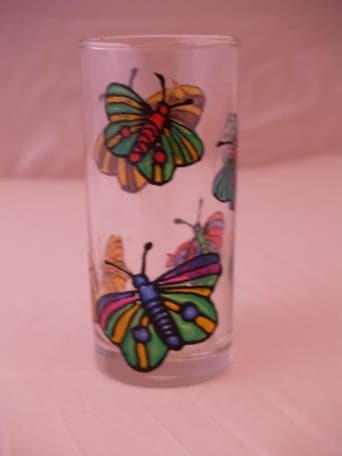Schmetterlingsglas