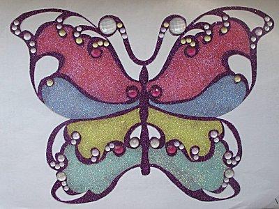 Glitzer-Schmetterling fürs Fenster