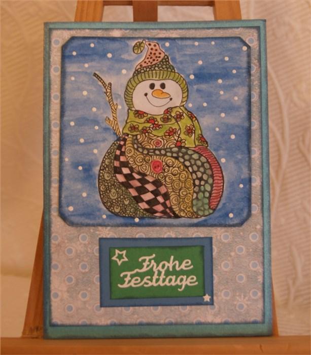 Doodle-Weihnachtskarten