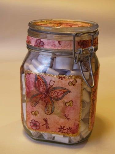 Scrapbook in a Jar