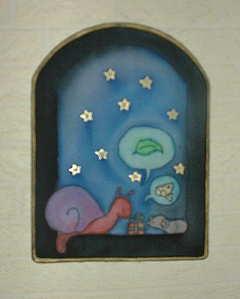 Fensterbilder aus Seide