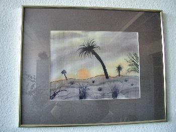 Seidenbild Palme