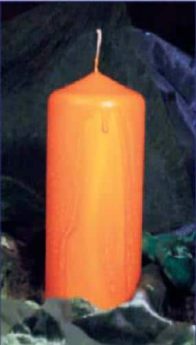 Kerzen verzieren mit Effektwachsen