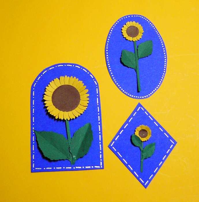 Geschenkanhänger mit Sonnenblumen