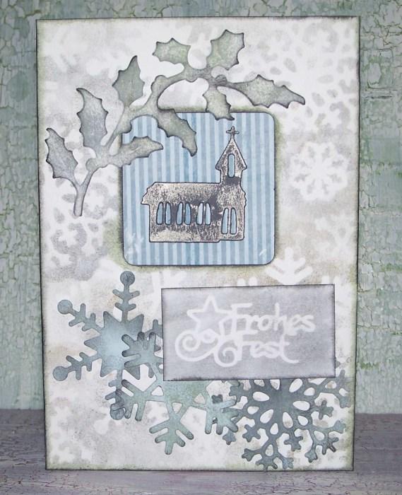 Weihnachtskarten mit weihnachtlichen Stanzteilen