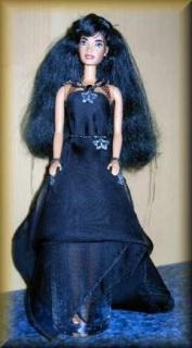 Kazira, die Sternenprinzessin (Altered Art Barbie)