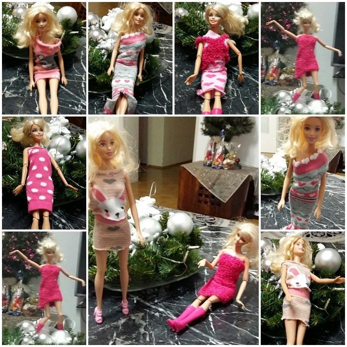 Barbiekleider aus Babystrümpfen