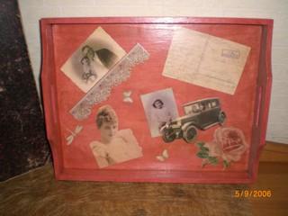 Tablett im Vintagestil