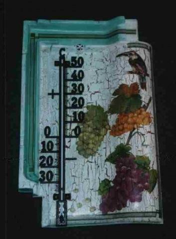 Dachziegel mit Thermometer