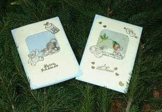 Hochzeitskarte und Karte zur Geburt