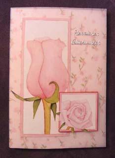 Vellumkarte mit Rose
