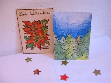 Aquarellkarte Tannenwald