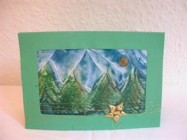 Weihnachtskarte in Encaustic