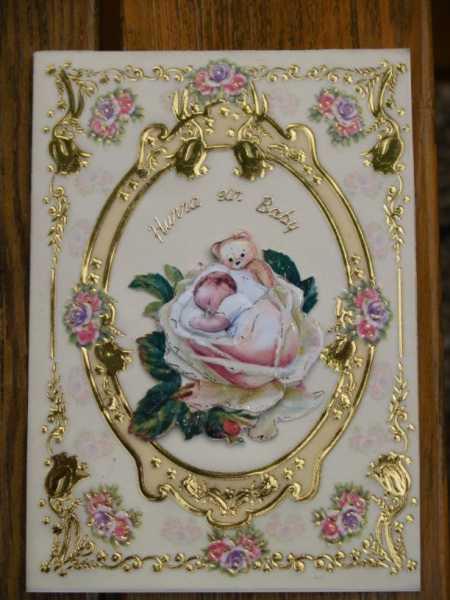 Nostalgiekarte zur Geburt oder Taufe