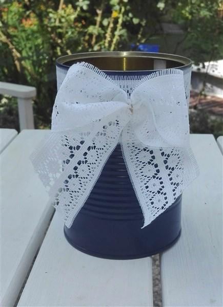 DIY Hochzeitsdeko - Blumentöpfe aus Blechdosen