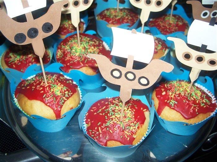 Piratenschiffmuffins fürs Piratenfest