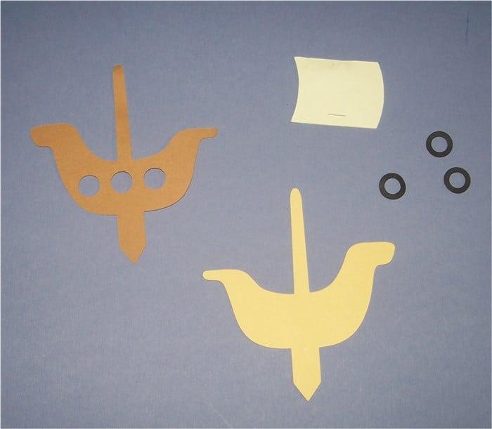 Stecker für Piratenschiff-Muffins