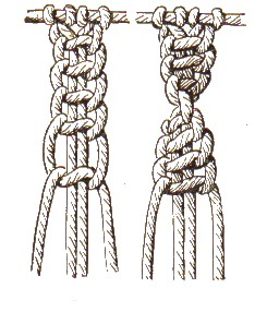 Zopfknoten und Wellenknoten