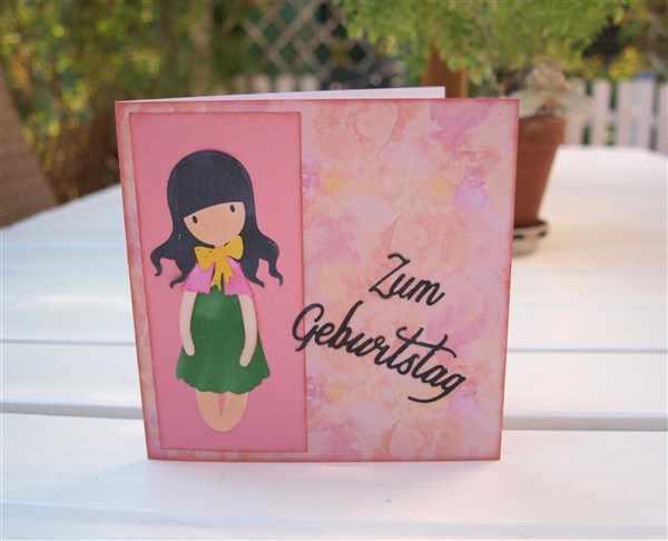 Geburtstagskarte mit Stanzmotiv