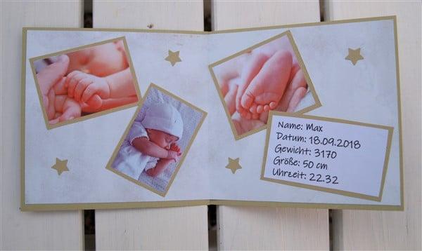 Dankeskarte fürs Baby selber machen