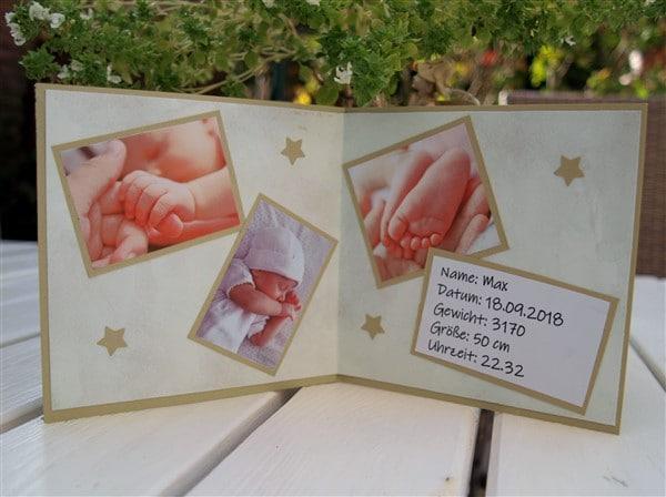 DIY Anzeigenkarte fürs Baby